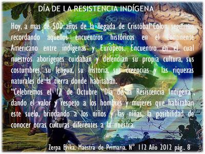 12 de Octubre, día de la resistencia indígena.
