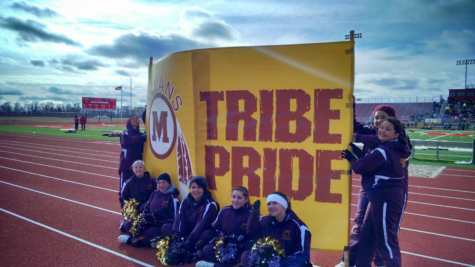 Mahnomen Indians Football Break Away Banner | Banners.com