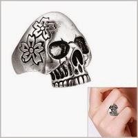 женский перстень с черепом купить