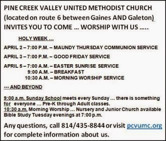 4-2/3/5 Pine Creek UMC Services