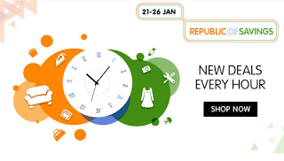 Snapdeal Republic of Savings Sale - Great Discounts + 10% Extra Cashback (21st - 26th Jan)