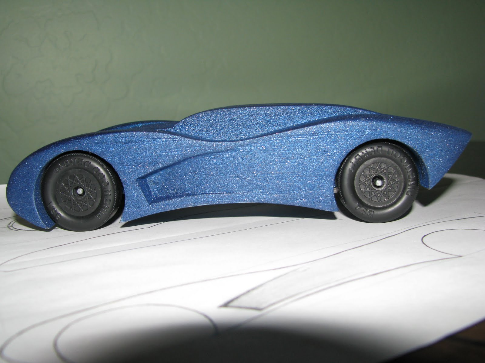 A soupçon of the wright life pinewood derby
