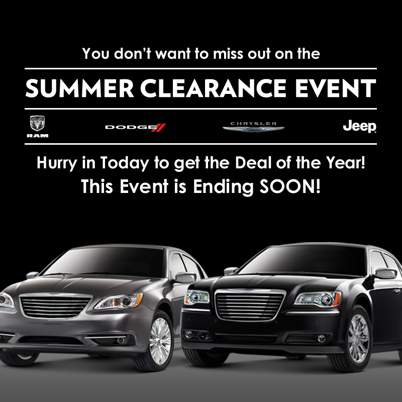 Perry Auto Group Chrysler Summer Clearance Event Perry