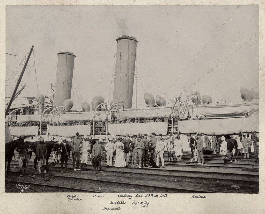Boarding Ship at Karachi - c1905