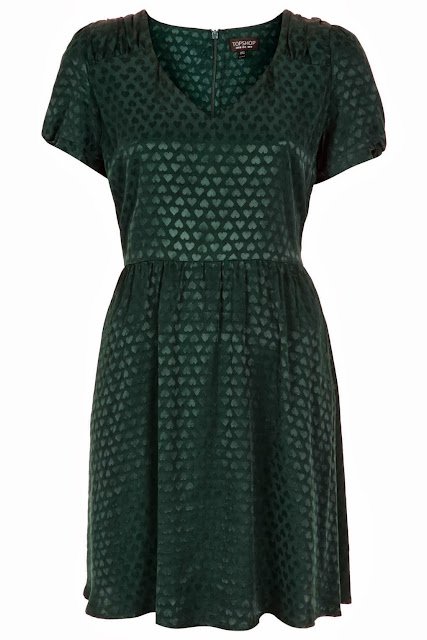 heart jacquard dress