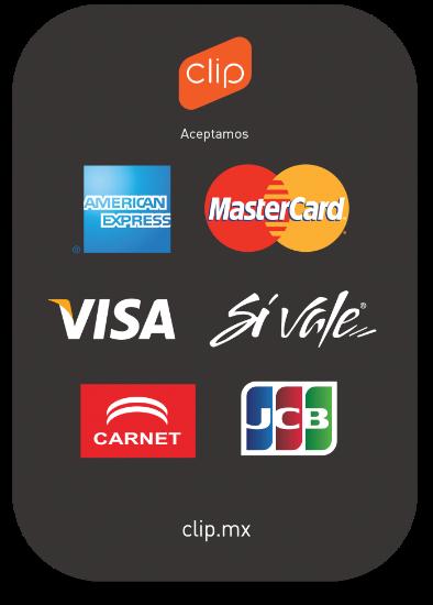 Ahora con tecnología de pago Clip