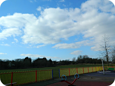 Farnworth Children's Park Blue Skies White Clouds