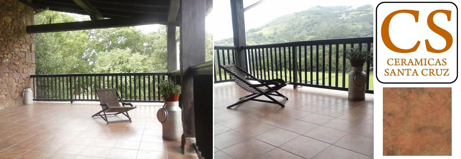 baldosas de gres para terraza exterior de caserio en el norte de navarra with baldosa terraza