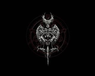 Symbol Of Death Dark Gothic Wallpaper