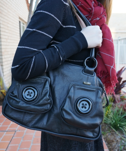 Away From the Blue Aussie Style Blog Mimco Black Button bag