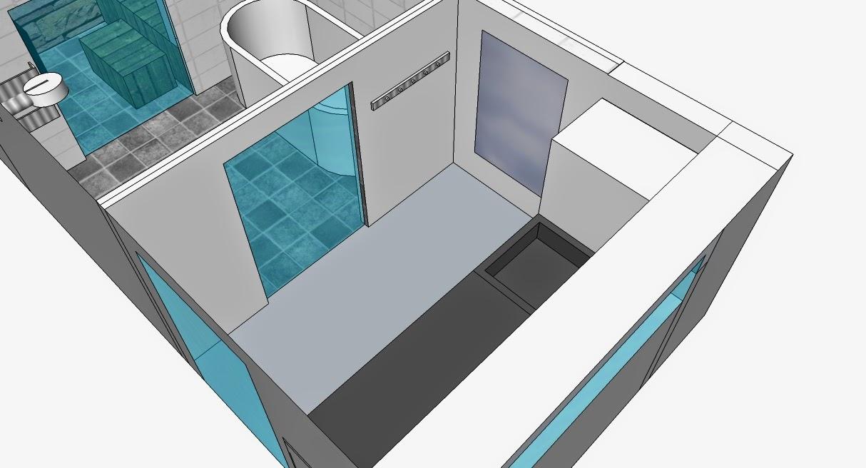 Söta drömmar: badrum och bastu: 3d planering