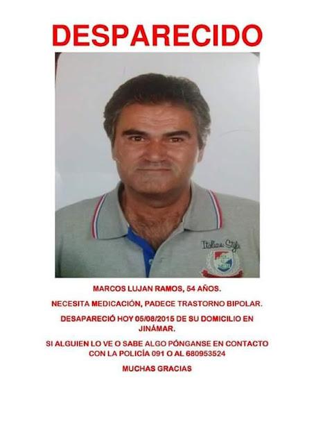 Marcos Lujan ramos hombre desaparecido Jinamar Gran canaria