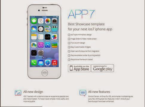 iOS7 App Responsive HTMl5 Template