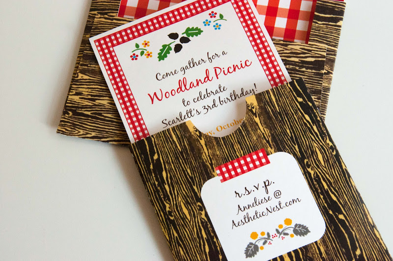 Aesthetic nest invites woodland picnic birthday invitation invites woodland picnic birthday invitation filmwisefo