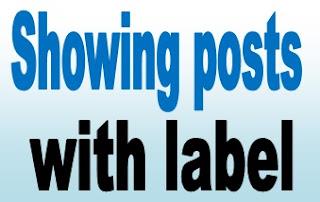 Cara Menghilangkan Tulisan Showing Post With Label Pada Blog