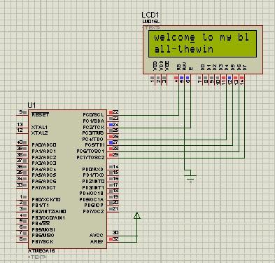 Rangkaian Antarmuka dan Program LCD dengan Mikrokontroler