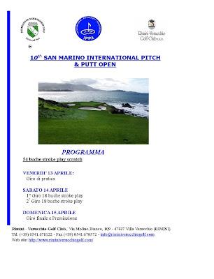 X Open Internacional San marino Pitch & Putt