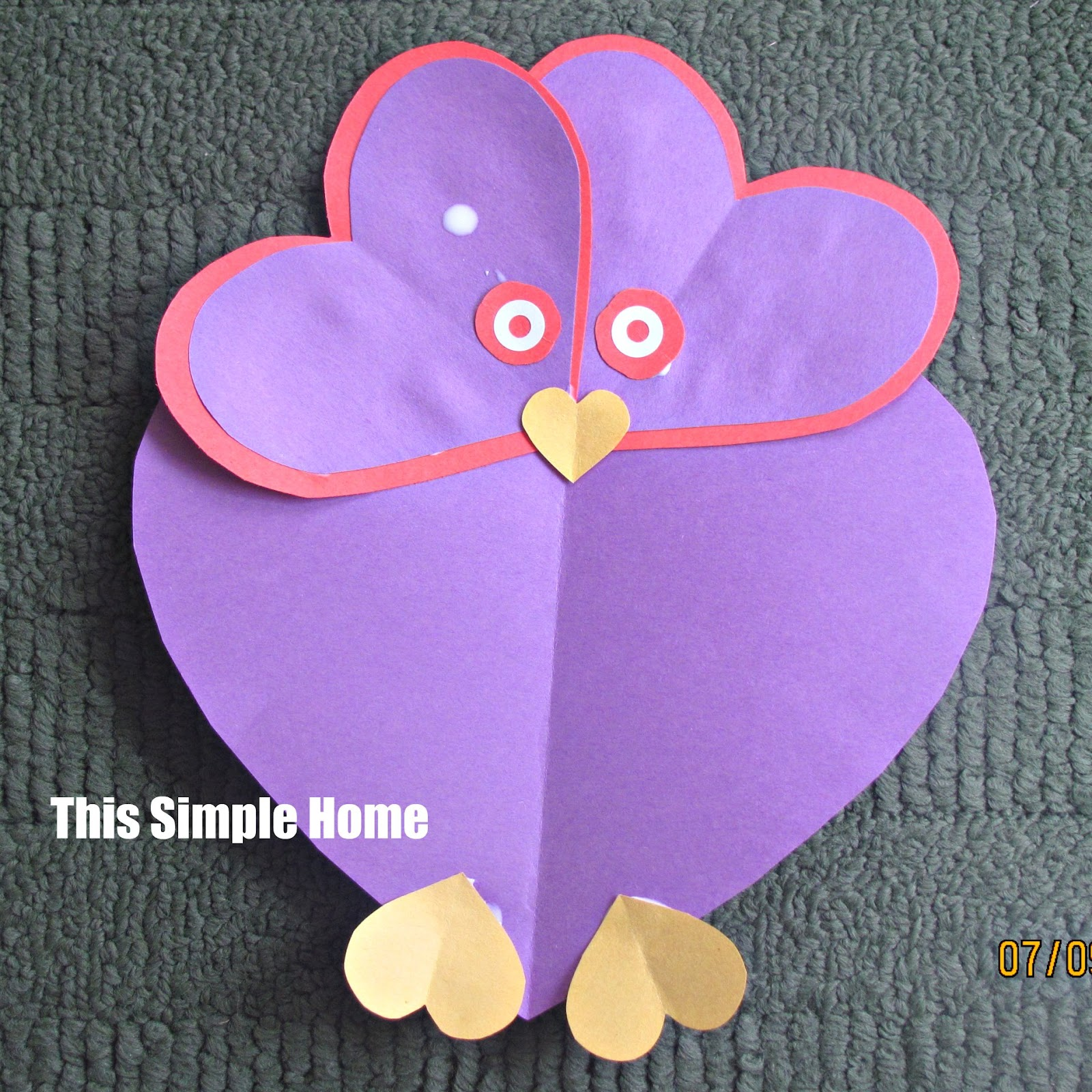 Animals crafts heart shapes images for Easy heart crafts