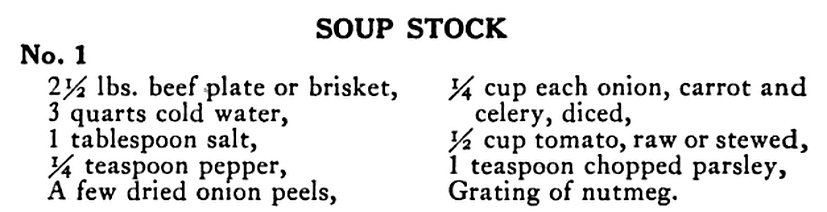Soup stocks