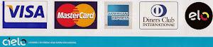 Aceitamos cartão de Crédito e Débito