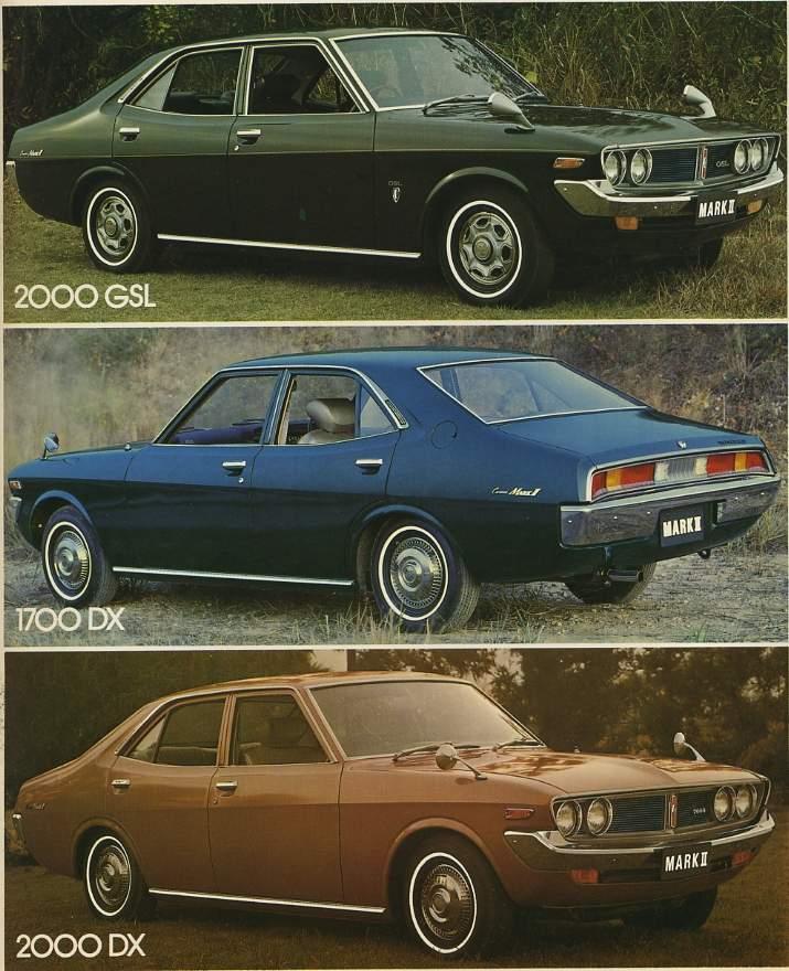 Toyota Corona Mark II, sedan, 2000GSL, 1700DX, 2000DX, klasyczny samochód z Japonii, fotki
