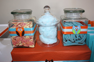 You can't have a party without a lolly buffet. The felt owls were