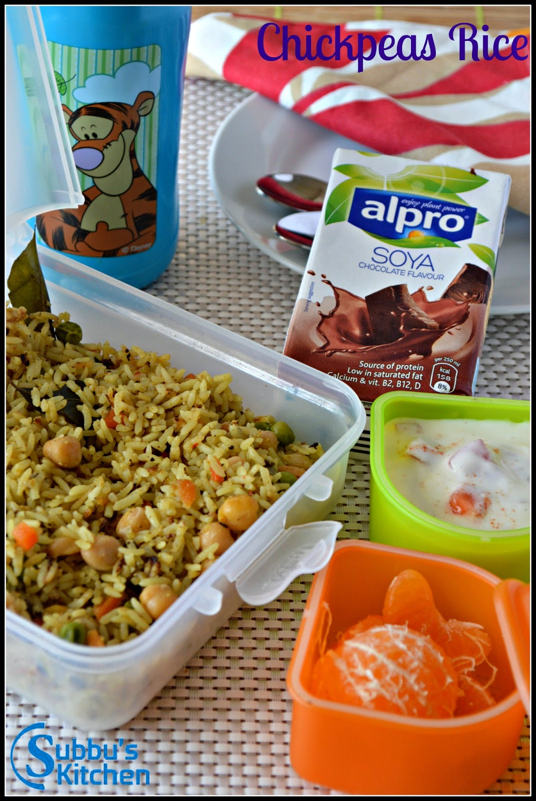 Chickpeas Rice | Kids Lunchbox Recipes