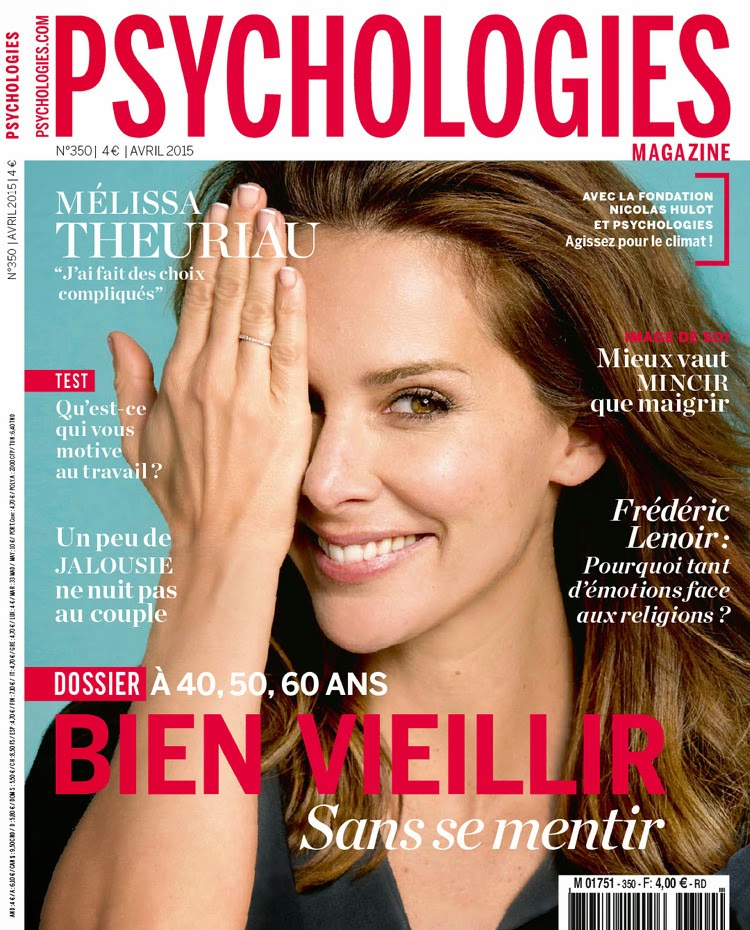 TV Journalist @ Mélissa Theuriau  - Psychologies Magazine, April 2015