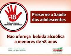 Não ofereça bebida alcoólica a menores de 18 anos