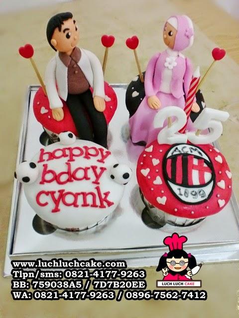 Cupcake Romantis Tema Ac Milan Daerah Surabaya - Sidoarjo