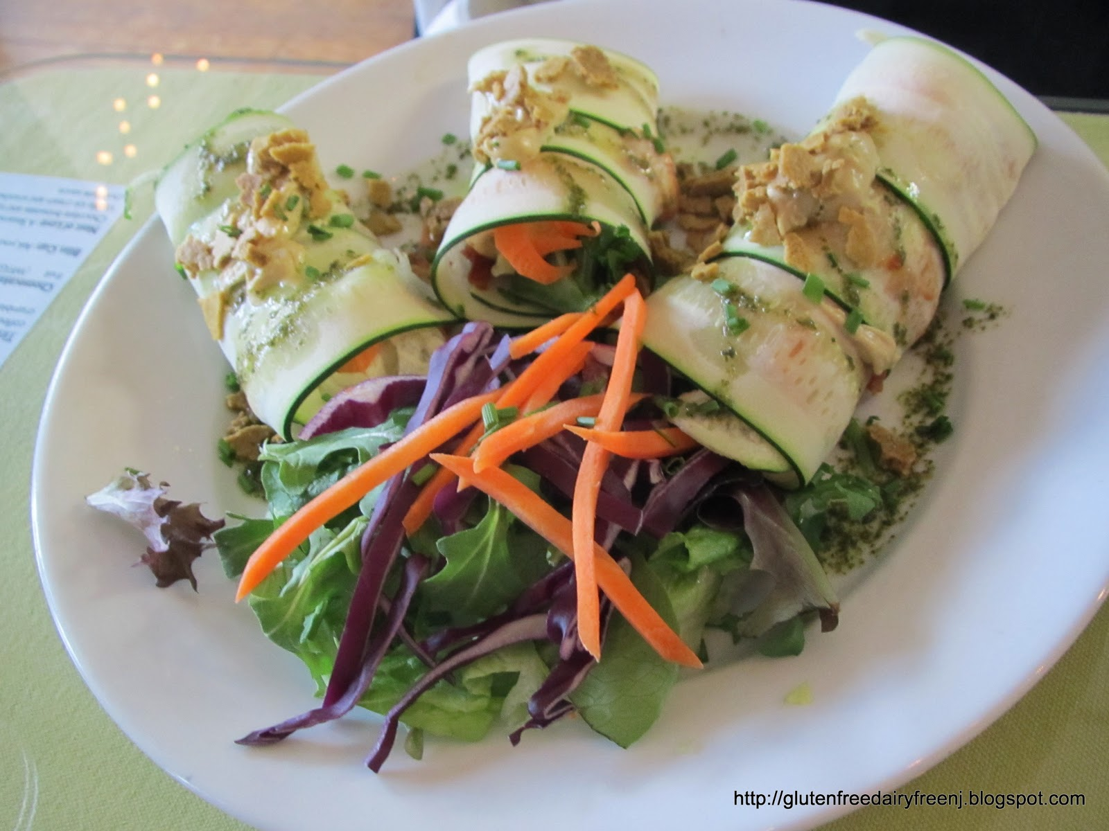 Raw Vegan Lasagna At Good Karma Cafe In Red Bank Nj
