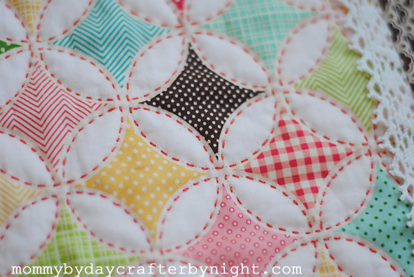 Mommy by day Crafter by night: Darling Doll Quilt Tutorial : hand quilting stitch - Adamdwight.com