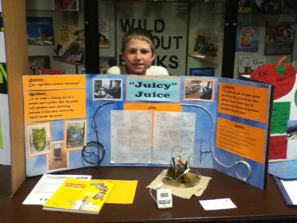 potato clock science fair project