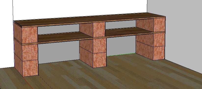 Bricolage de l 39 id e la r alisation etag re au look - Faire un bureau avec une planche ...