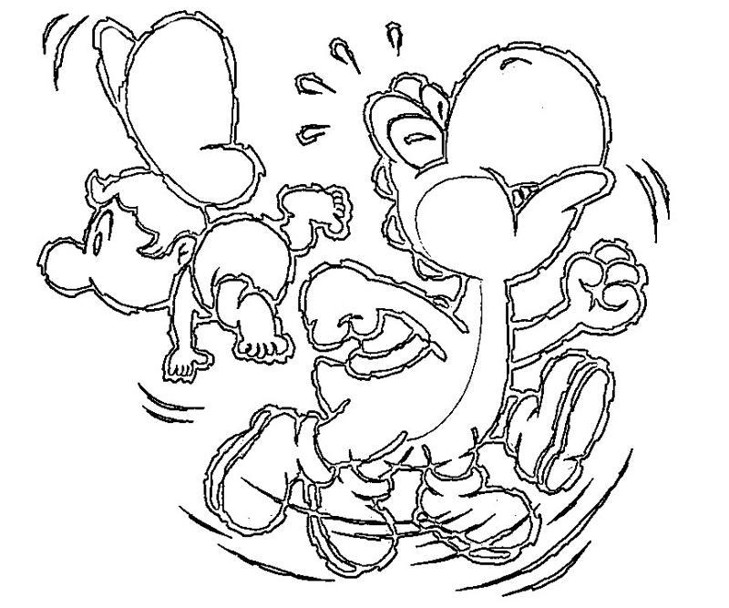 coloring pages of yoshi