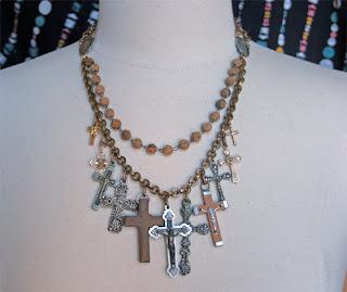 Sacrifice Religious Assemblage Necklace