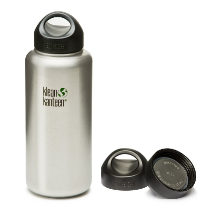 Klean Kanteen Wide Mouth Bottle with Stainless Steel Loop Cap - image