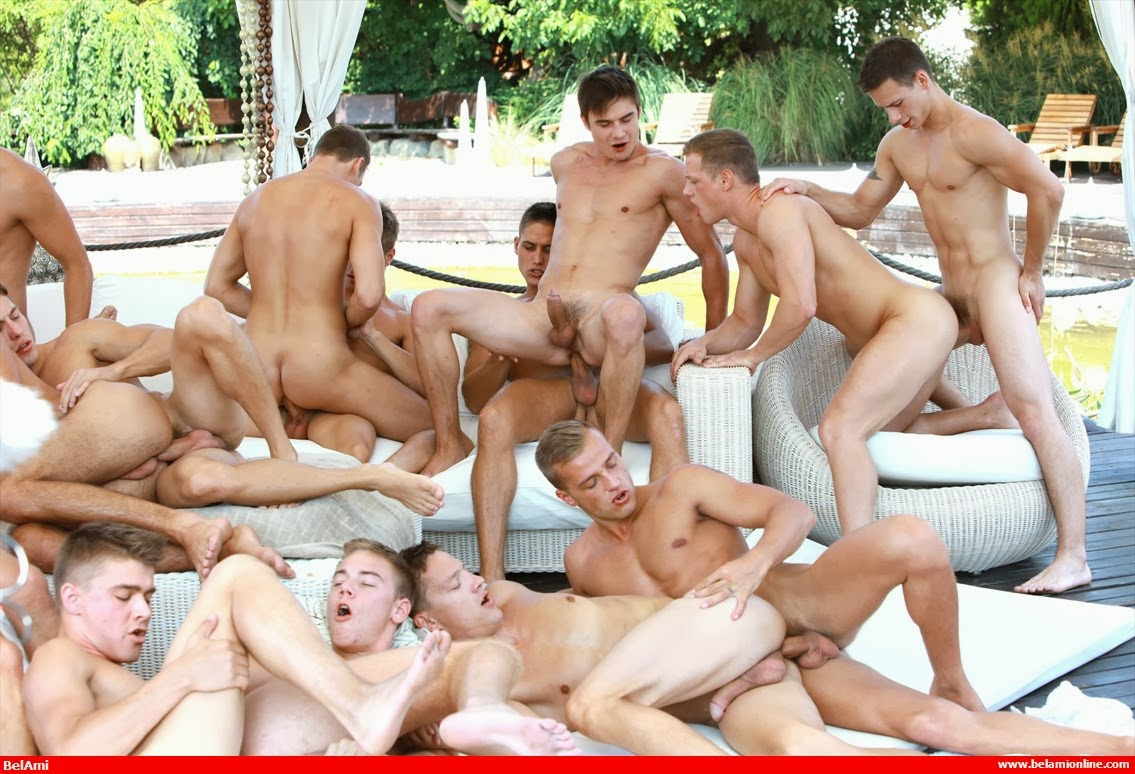 Gay video orgy