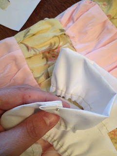 Fold over edges into each other to form clean seam.