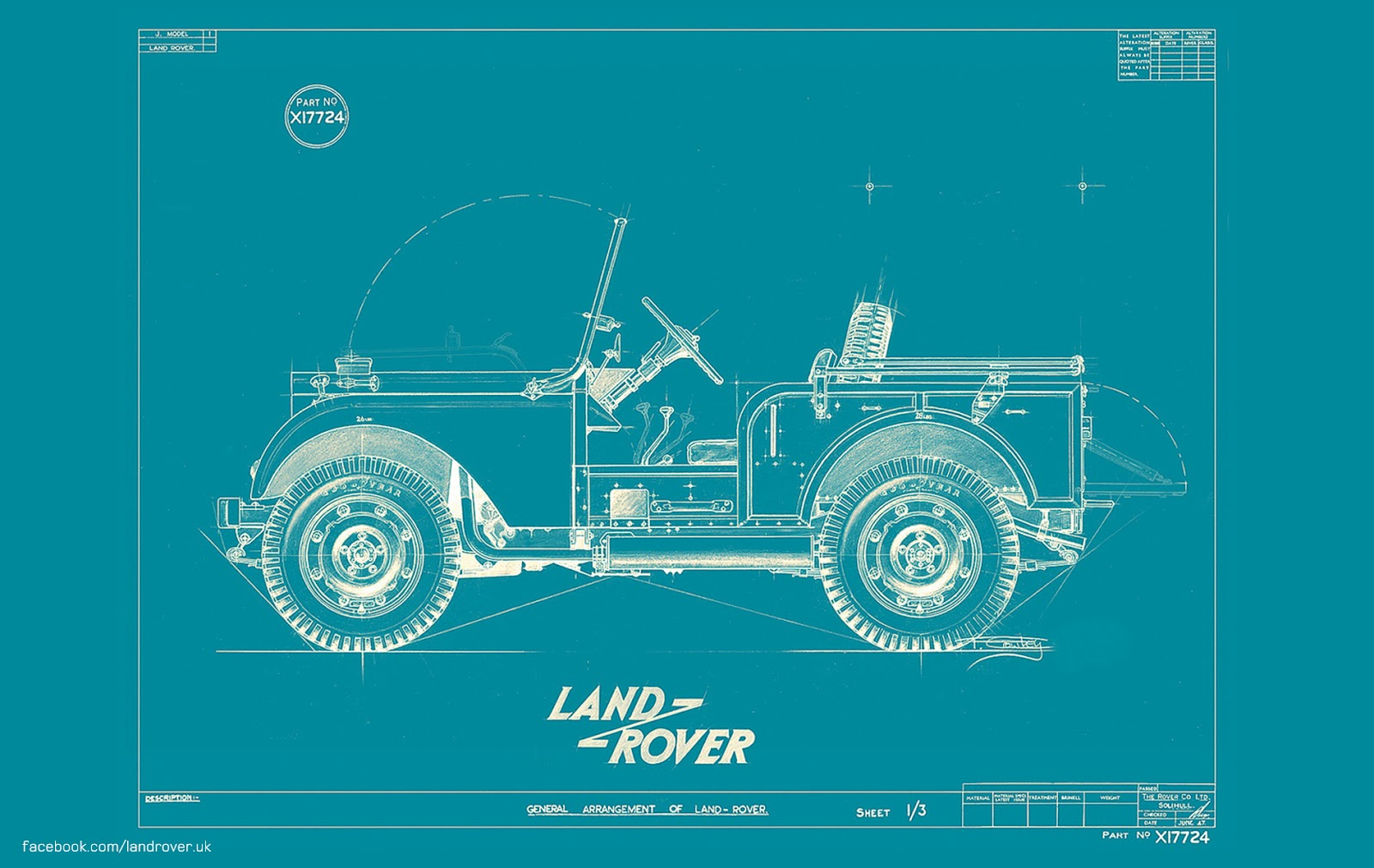 The pinehurst land rover society land rover wallpaper an original center steer blueprint from 1947 feel free to click and download malvernweather Gallery