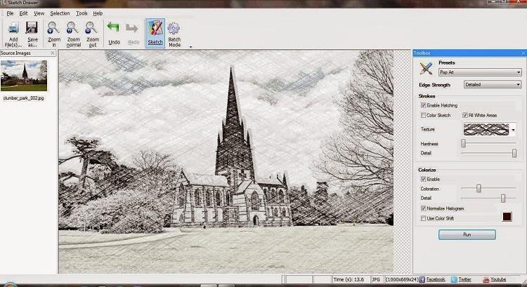 برنامج لجعل صورك كأنها مرسومة بالقلم الرصاص Sketch Drawer