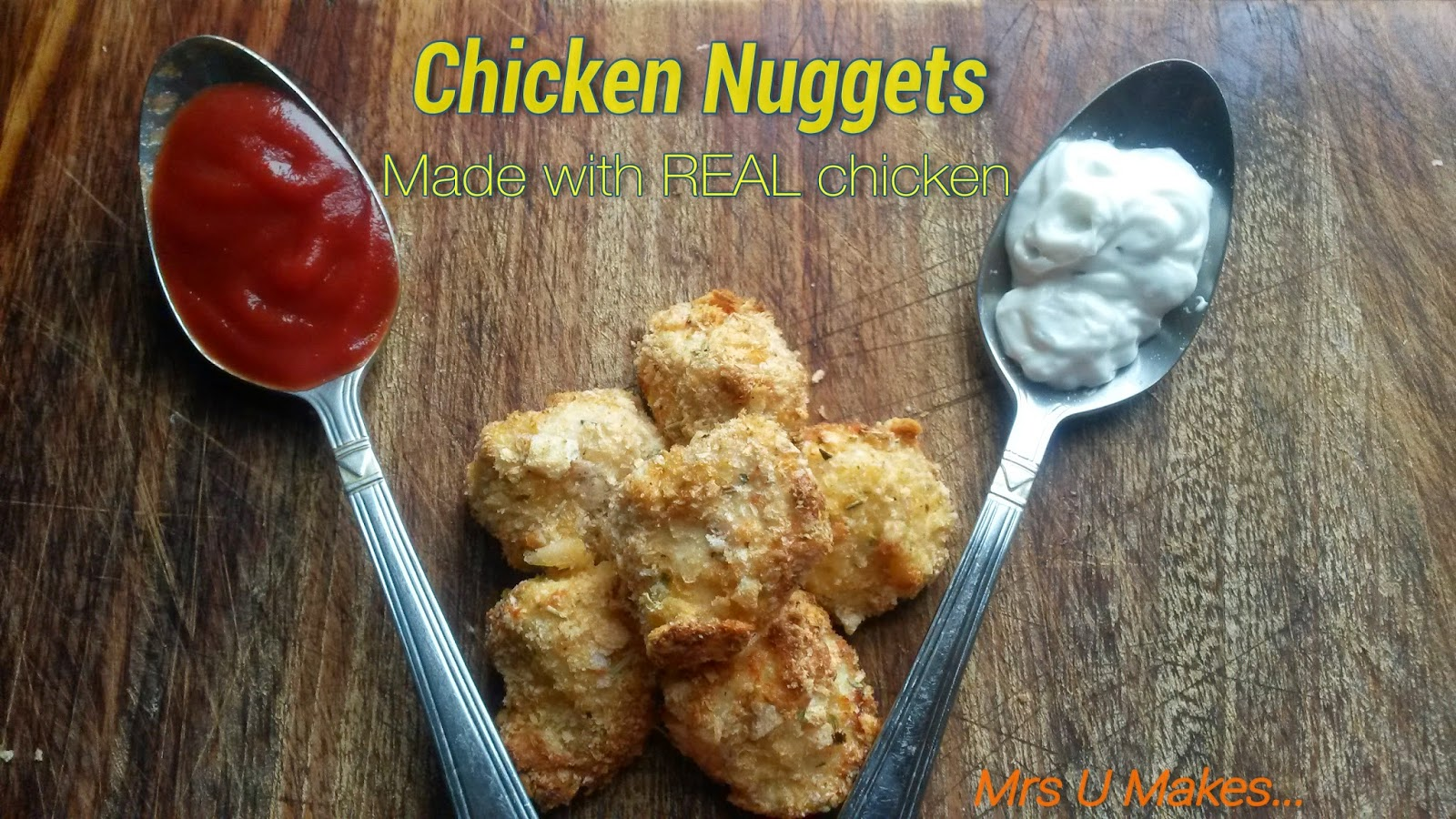Chicken nuggets recipe. Made with real chicken, so simple.