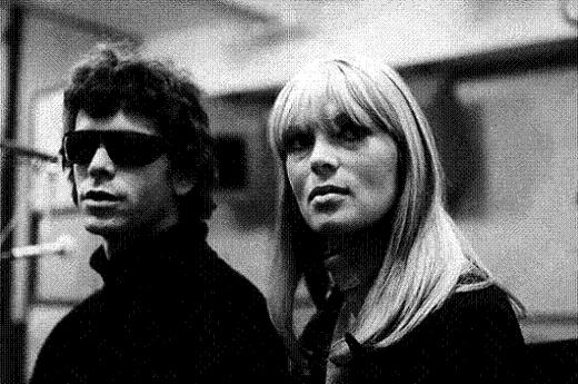 nico and lou reed with sunglasses