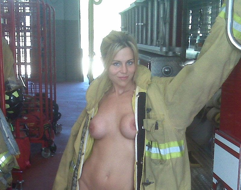 women firefighter Nude female