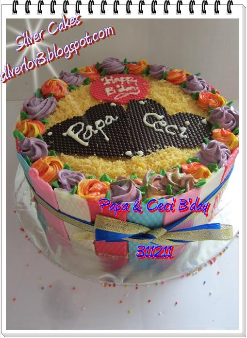 Silver Cakes: Papa N  Ceci B day Cake