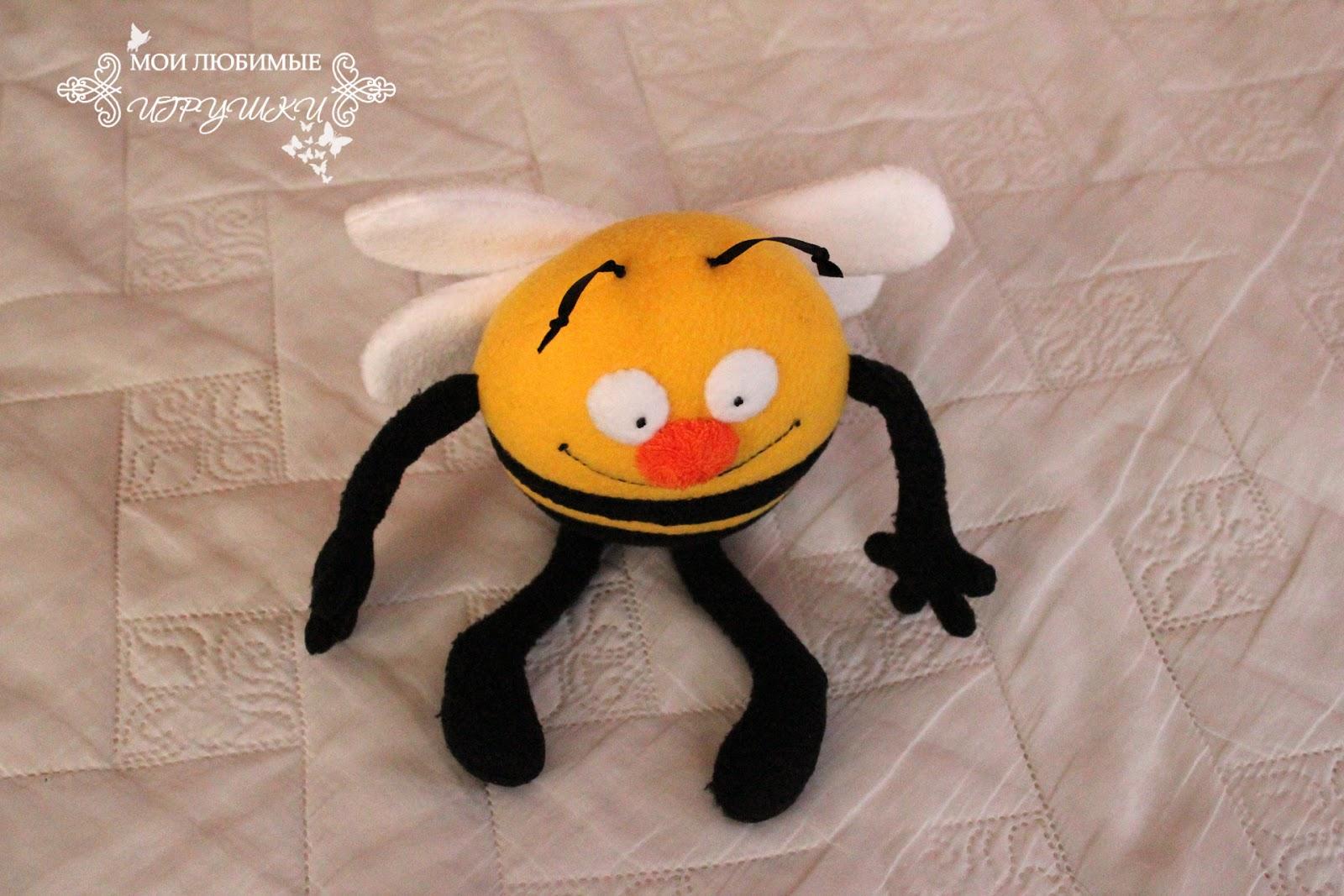 Мягкая игрушка пчёлка своими руками 4