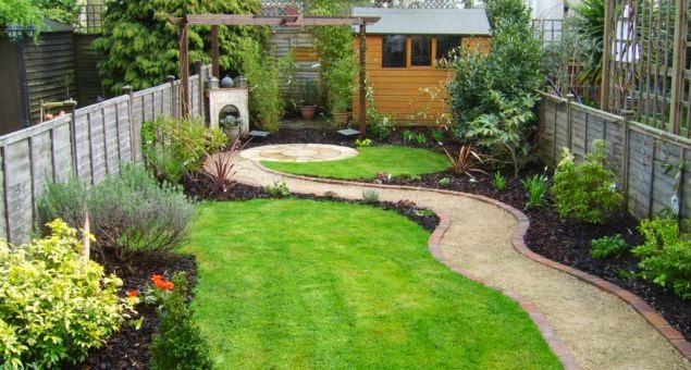 rectangular garden design pictures of gardens