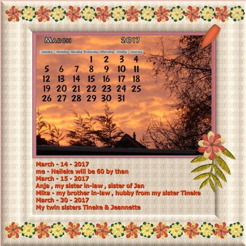 Dutchie/Nelleke's March 2017 calendar page