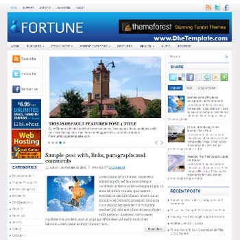 Fortune template with magazine style and 3 column blogger template