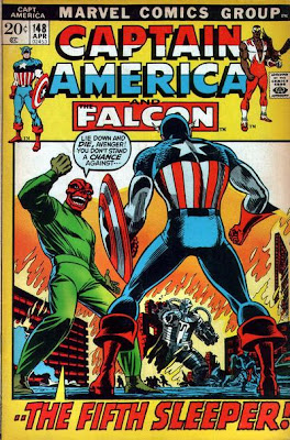 Captain America #148, the Red Skull and the 5th Sleeper, John Romita cover